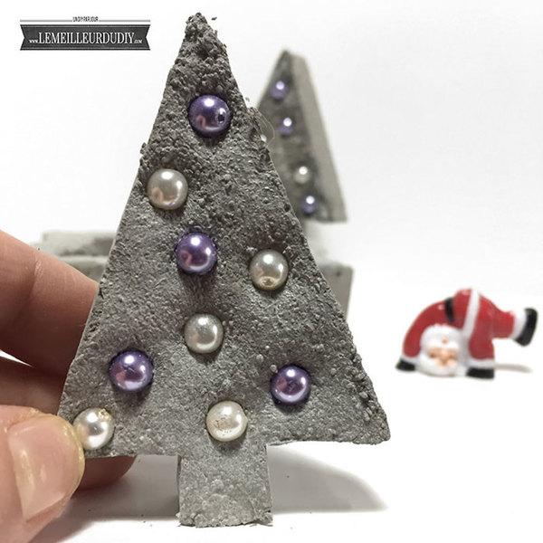 DIY Jolis cadeaux de Noël en béton décoratif-Admirez votre décor !