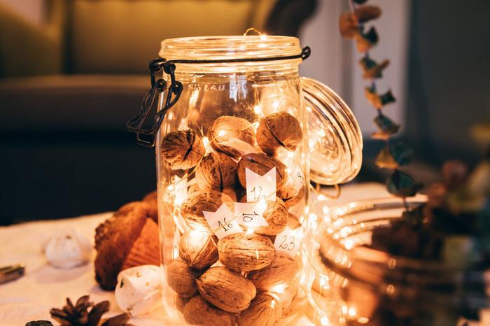 Tutoriel // DIY du calendrier de l'avent express, en coquilles de noix (avec du love dedans)-taaaadaaaa !