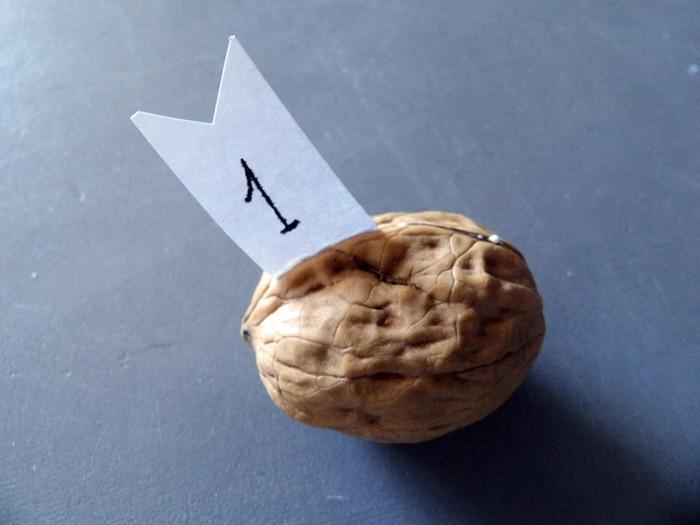 Tutoriel // DIY du calendrier de l'avent express, en coquilles de noix (avec du love dedans)-Etape 2: