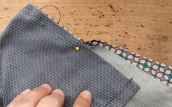 Une paire de taies d'oreiller faite maison -Préparation