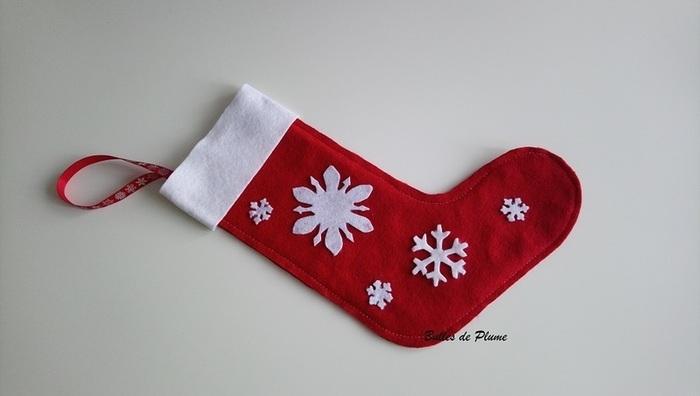 DIY : chaussette de Noël en feutrine-Décoration de la chaussette