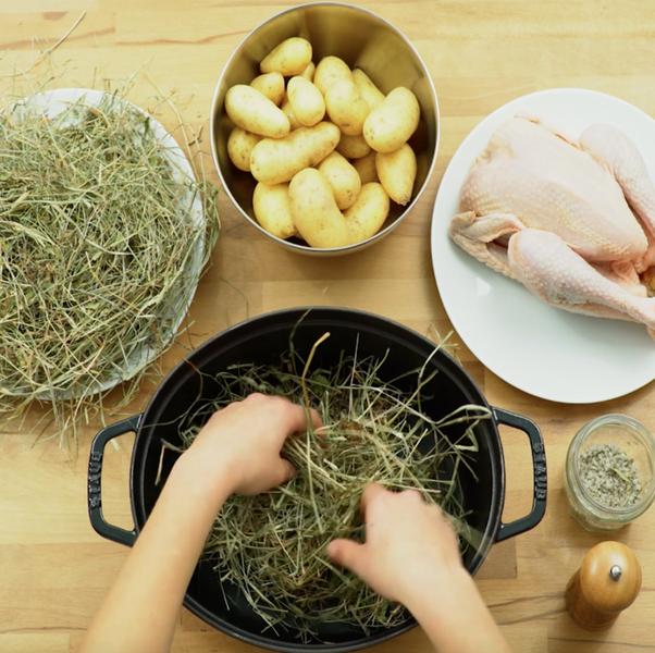 Délicieux poulet fumé maison -Préparation