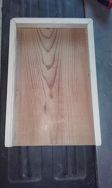 Tablette d'appoint en bois pour canapé-Montage tasseaux