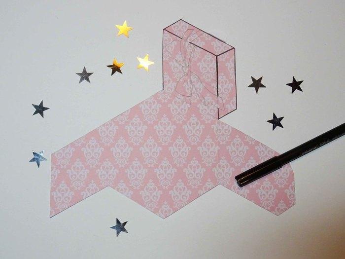 """Carte """"Paquet cadeau""""-Autres couleurs et finitions"""
