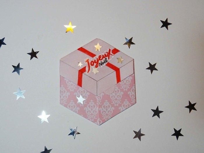 "Carte ""Paquet cadeau""-Ou inscriptions."