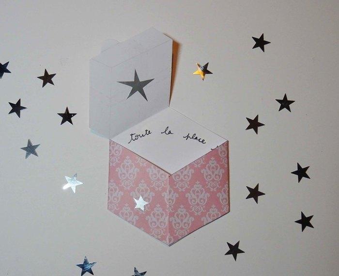 "Carte ""Paquet cadeau""-Fermeture de la carte"