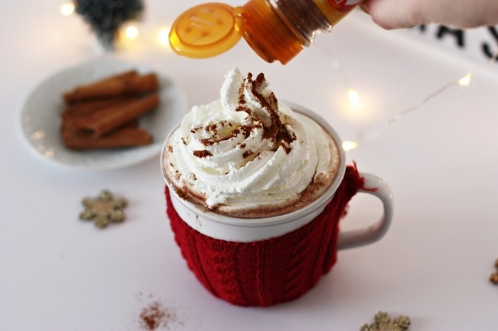 Chocolat chaud à la cannelle-Le topping