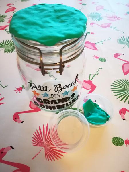 Fabriquer un bocal à bonheur-Décoration du couvercle