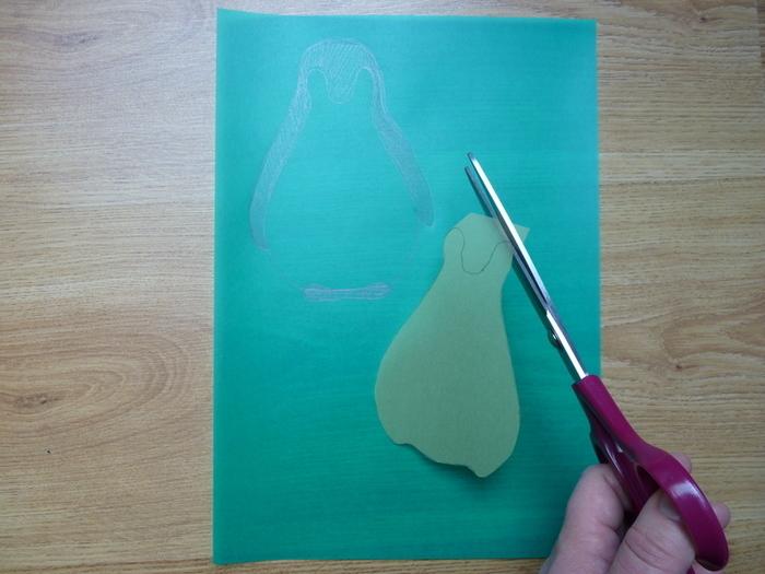 DIY : Customiser un coussin : le pingouin-Faire les gabarits