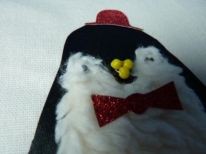 DIY : Customiser un coussin : le pingouin-Quelques détails supplémentaires (optionnel)