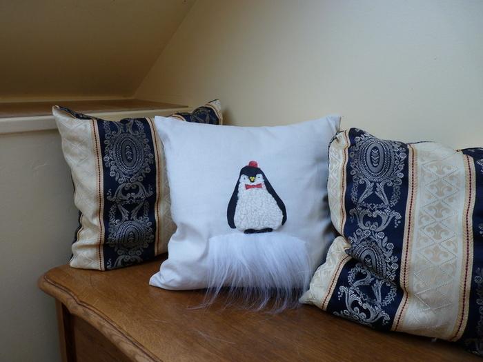 DIY : Customiser un coussin : le pingouin-Appréciez et/ou offrez votre création