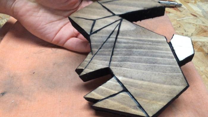 Décorations murales géométriques-Finition