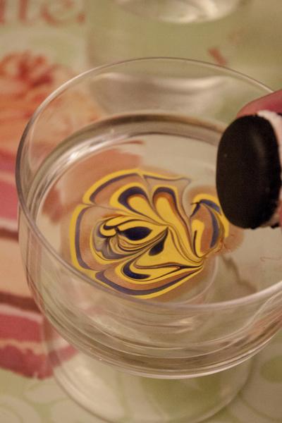 Macaron Fimo effet marbré-Etape 3
