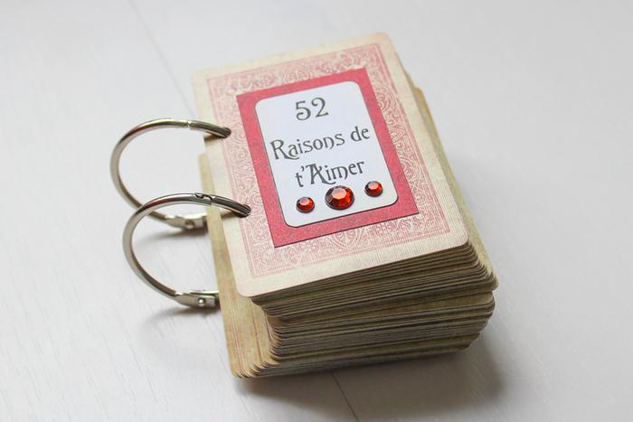 Jeu de cartes : 52 raisons de t'aimer-