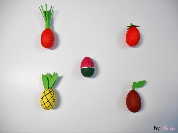 Des œufs de Pâques fruités-L'assemblage