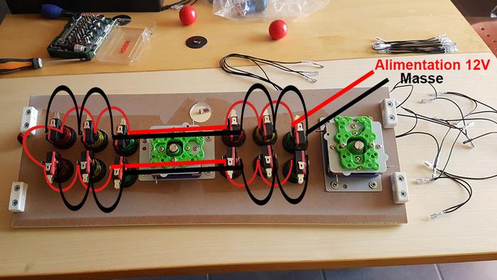 Construire son Bartop Arcade de A à Z-ETAPE 4 : ALIMENTATION LED DES BOUTONS
