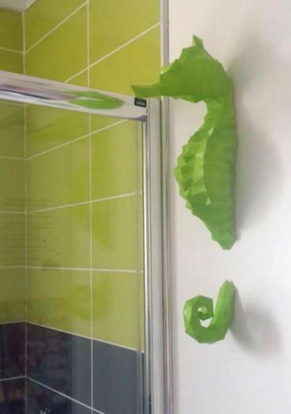 Assemble ton propre hippocampe en papier-Personnalise la Sculpture