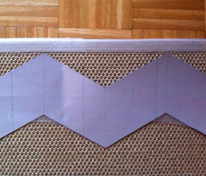 Un tapis chevron homemade-Les étapes en quelques coups de pinceaux