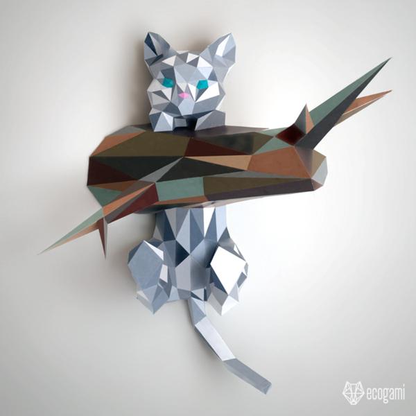 Assemble ton propre chaton en papier-Quelques exemples de personnalisation :