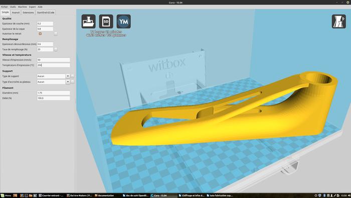 Support pour tablette de fauteuil roulant ALTO-NV-Impression 3D