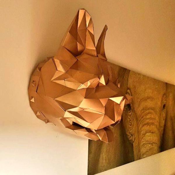 Assemble ton propre bouledogue français en papier-Personnalise la Sculpture