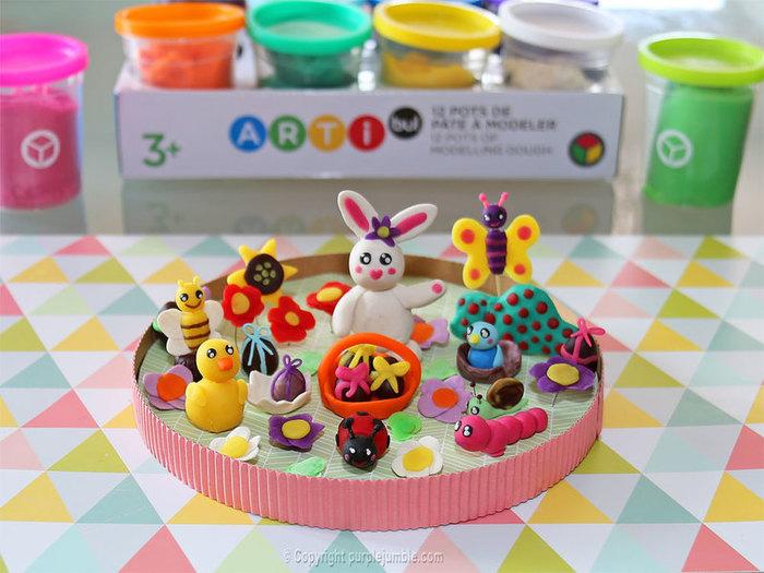 Jardin merveilleux et chasse aux œufs de Pâques-Préparer le socle