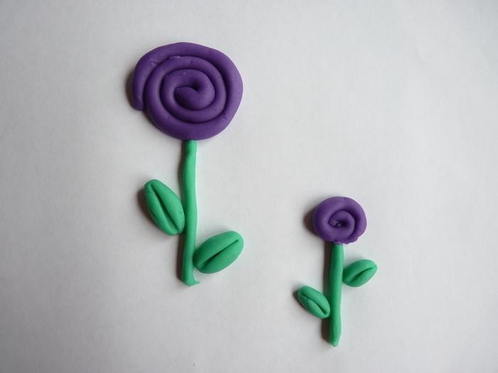 Fleurs de printemps à accrocher pour Pâques-Fleur violette + feuilles