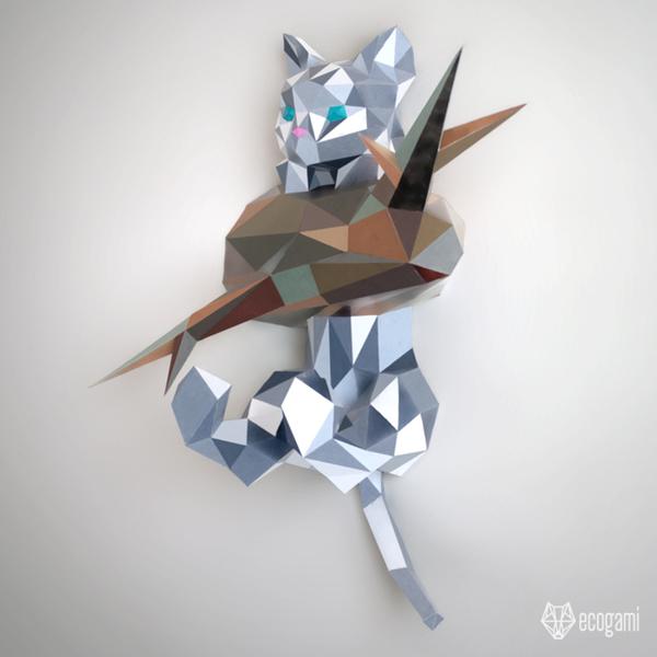 Assemble ton propre chaton en papier-L'assemblage
