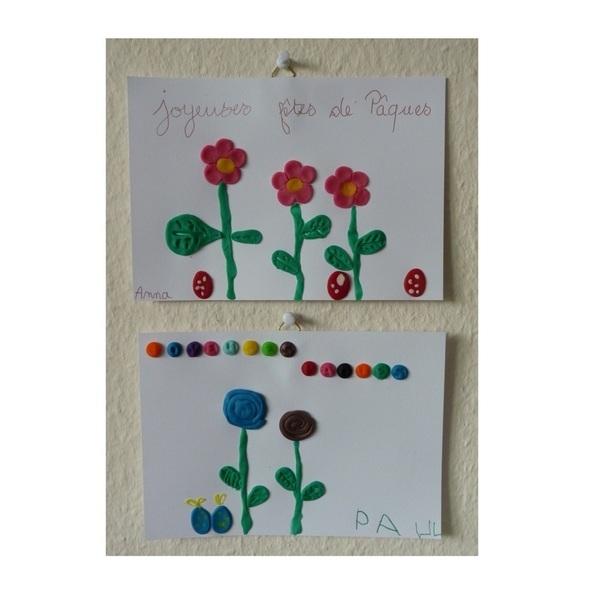 Fleurs de printemps à accrocher pour Pâques-On accroche et on félicite les enfants pour leur magnifiques fleurs (+  idées)
