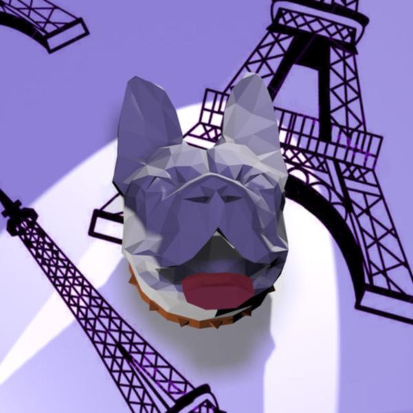 Assemble ton propre bouledogue français en papier-L'assemblage