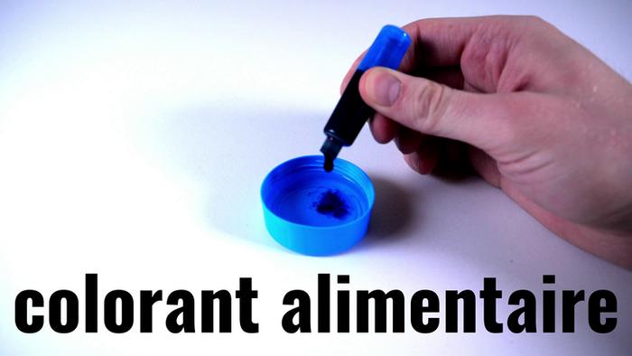 Fabriquer une lampe à lave-Vinaigre et colorant