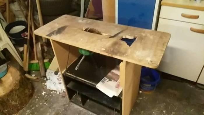 Scie Sur Table Améliorée Avec Une Table À Dessin-Etape 1 Démontage De La Scie De L'ancienne Table