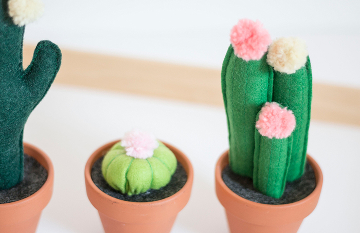 Des cactus tout doux en feutrine-TADAAAAAA !