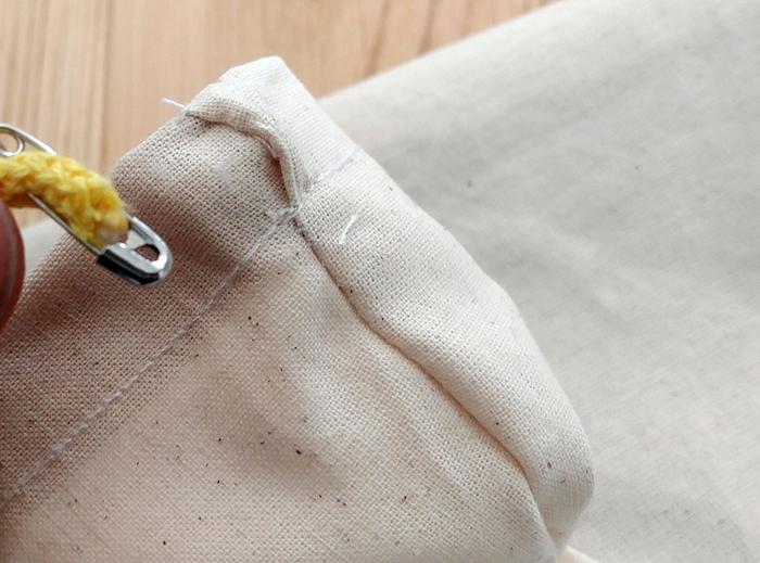 Un Sac à dos Lapinou-Montage des bretelles