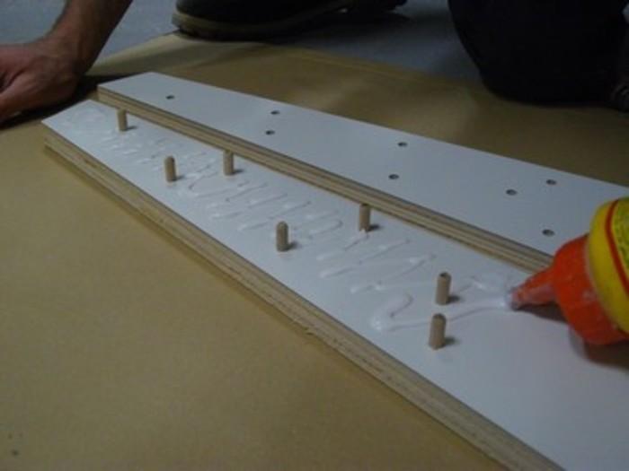 """Bureau en bois inspiré """"OpenDesk""""-Assemblage : les pieds"""