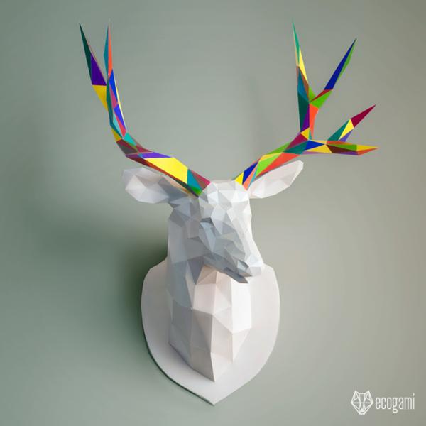 Assemble ton propre trophée de cerf en papier-Personnaliser la Sculpture