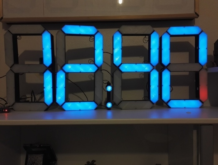 Grande horloge numérique V2-Assemblage Final