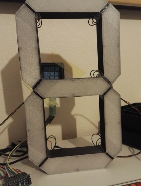 Grande horloge numérique V2-Assemblage des LEDS