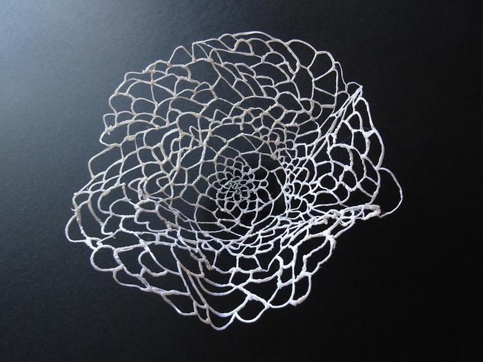 Corbeille en stylo 3D-Une fine corbeille