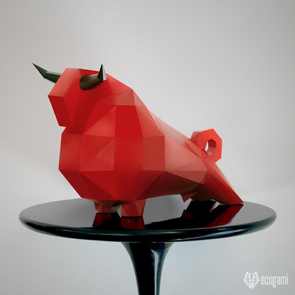 Sculpture de taureau (Patron PDF gratuit)-Personnalise ta Sculpture