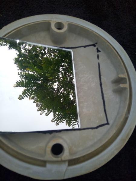UPCYCLING EN BOULE DISCO -Etape 5, Création d'un réflecteur de lunière