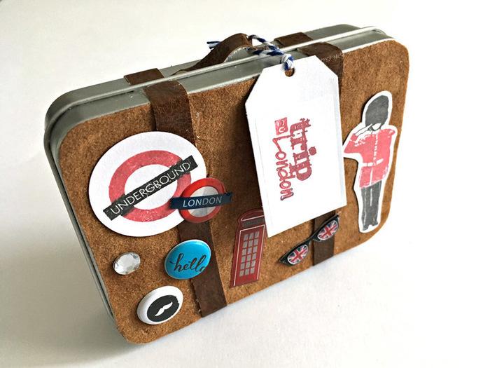 Londres : Valise mini-album (part I)-La customisation