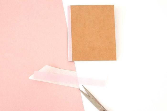 """3 manières de customiser un carnet kraft-Pour le carnet """"Nuages"""""""
