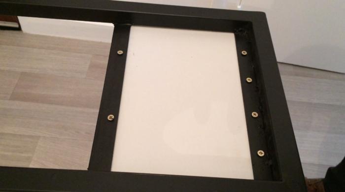 Console d'entrée bois et métal-Assemblage final