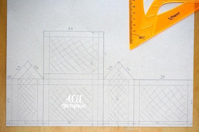 """Carte pop-up """"mini-serre à cactus""""-La structure de la serre"""