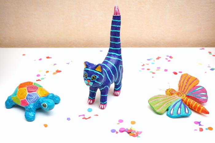 Alebrijes - animaux en papier mâché-Peindre des Alebrijes