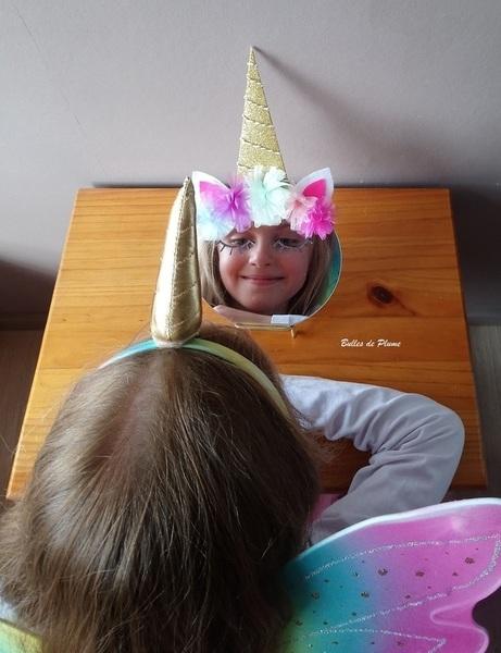 Miroir licorne-Et voilà le miroir licorne !