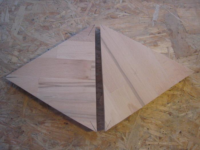 Jeux de corde et lumière-Réaliser les triangles hauts et bas