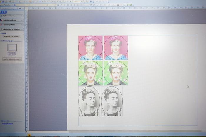 Boucles d'oreilles Frida en plastique fou imprimable-Imprimer