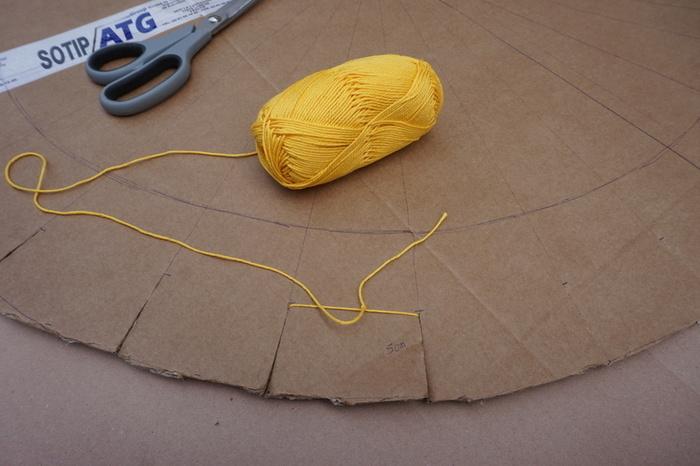 Tapis tissé aux couleurs du soleil-Etape 1 : La structure